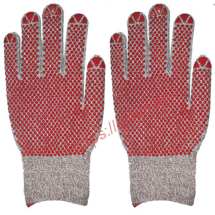 găng tay dệt kim phủ hạt nhựa
