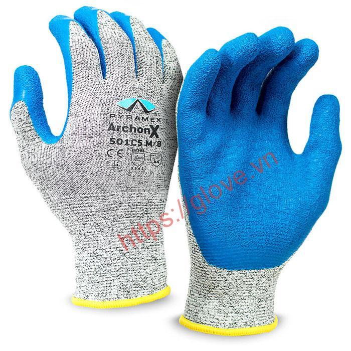 bao tay chống cắt phủ latex
