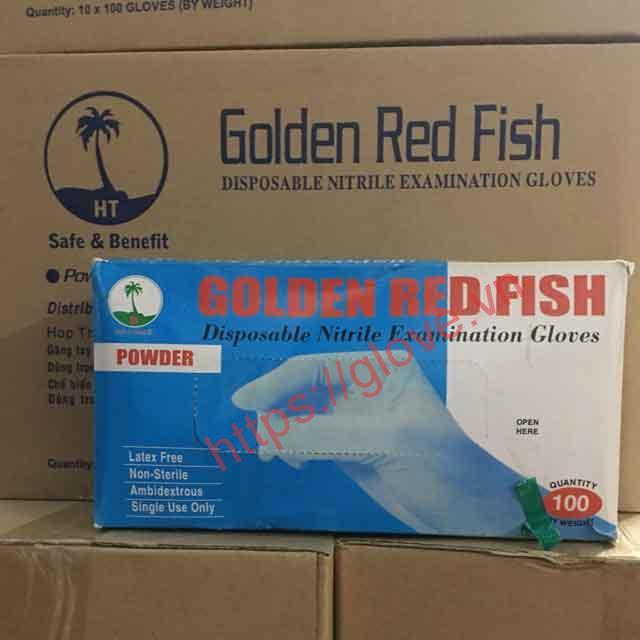 Găng tay cao su có bột Golden Fish 1
