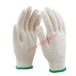Găng tay sợi cotton dệt máy 10G loại 70gam