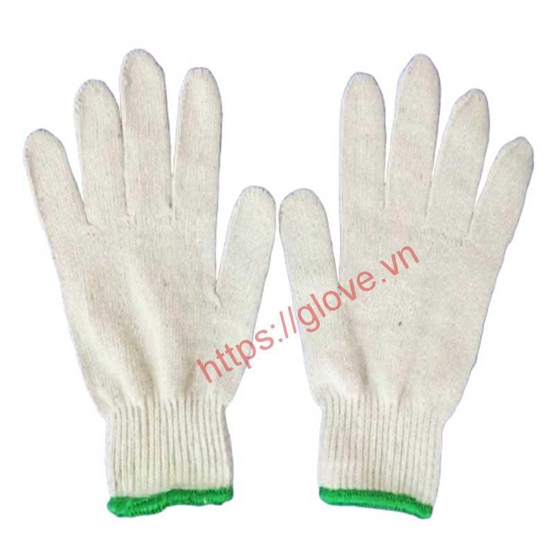 Găng tay sợi cotton dệt máy 10G loại 60gam