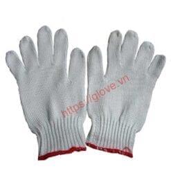 Găng tay sợi cotton dệt máy 7 kim loại 40gam