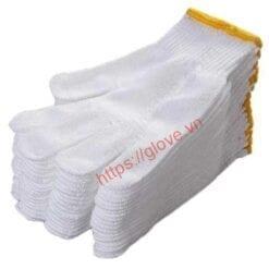 Găng tay sợi cotton dệt máy 10G loại 50gam
