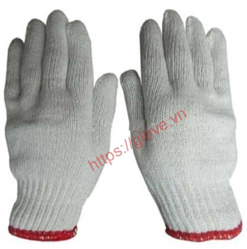 Găng tay sợi cotton dệt máy 7 kim loại 50gam