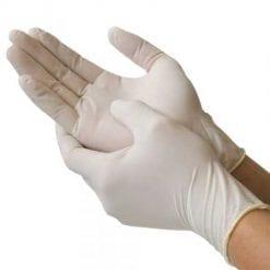 Găng tay y tế Khải Hoàn Nitrile Vglove White 1