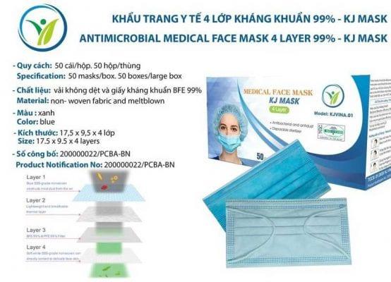 Khẩu trang y tế KJ MASK